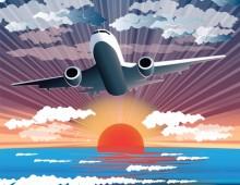 איור של מטוס